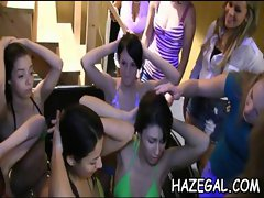 Lesbians caressing on cam