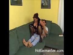 German housewife horny for young cock