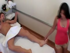 Asian masseuse pleasing her customer