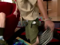 Boy scouts unwrap their christmas gifts and wrap their mouth