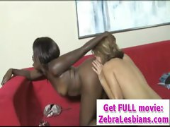 Hot Ebony Lesbian Babes Love Strap-On Fuck 15