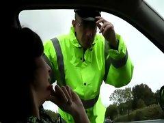 Mature schoolgirl flirts out of ticket