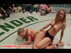 Female Combat Public Wrestling Anal Strapon Humiliation