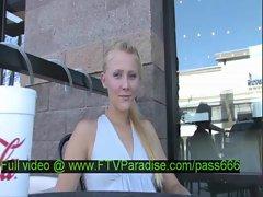 Liz gorgeous blonde slut in the restaurant talking