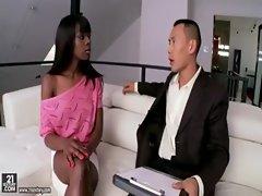 Ebony beauty Ana Foxxx fucking Keni Styles