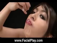 Cute Young Asian Covered in Hot Cum Bukkake Now 06