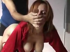 Redhead wife is just aching to fill her gullet with his satisfying load