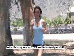 Brianne lovely girl Naked In Public