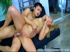 AMWF alyssa branch interracial with asian guy