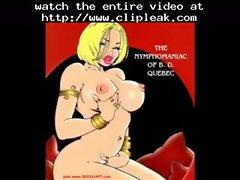 Big Breast Blonde Sucks Cock