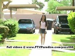 Milena easy going teenage schoolgirl gets naked