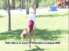 Pamela easy going teenage blonde fingering outdoor