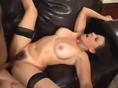 Milf with hairy box sits on his cock