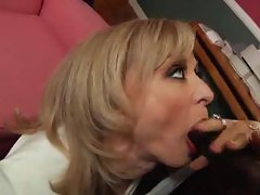 Hot milf likes black cock in her butthole