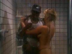 White slut blacked as she gets wet in the shower