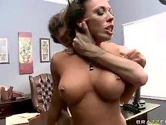 Big cock fucking secretary on the desk