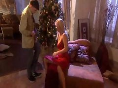 Milf and young man have some holiday fun