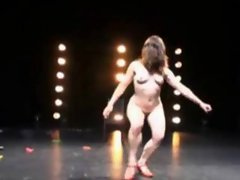 Weird dancing from naked chicks