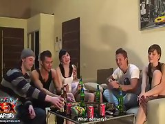 Fun party with drinking and chatting
