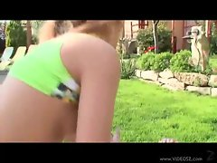 Hot delicious dick fucking hot chick outdoors