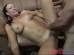 Hairy pussy mature hardcore with load in her hair