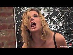Mistress rides a face dildo