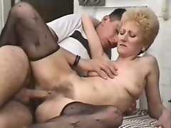 Her sexy granny pussy is fucked deep