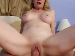 The hot momma is riding a cock like a slut