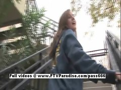 Hayley fun sweet girl public flashing