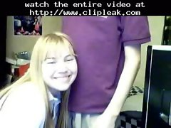 Blowjob To Her Boyfriend By Webcam