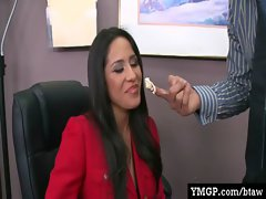 Horny Big Tit Babes Banged By Their Bosses At Work 16