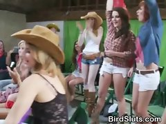 Amateur Women Partying In A Barn With Strippers