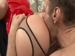 Filthy slut Debbie White ass devastated with busty milf Tanya Tate