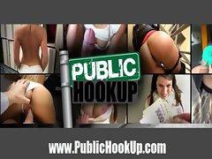 Anal fucking Brunette Slut in Broad Daylight - PublicHookup.com