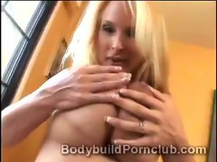 Extremely hot mature blonde whore Holly Halston masturbates eagerly