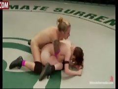 Naked females wrestling
