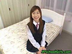 Ami Hinata stunning Asian schoolgirl delights