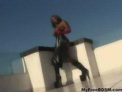 Skyy Ebony Rectal Latex bdsm bondage slave femdom domination