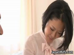 Ayaka asian mummy spreads her legs