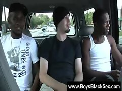 Blacks On Lads - Interracial Wild Gay grinding 01