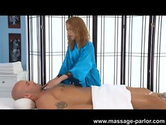 Mae Olsen Loves to Massage the Prick