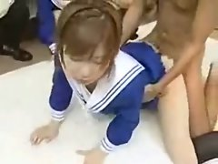 jap uniform teenager analfuck