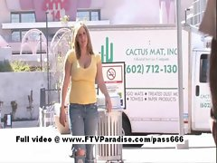 Candace charming top heavy light-haired sassy teen public flashing