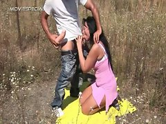 Sensual Cougar gets banged rough outdoor