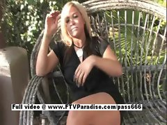 Audrey perfect graceful 18 years old slutty girl talking upon virginity