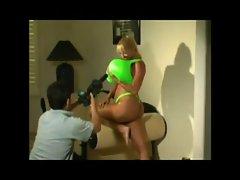 Maxy Mounds green bikini