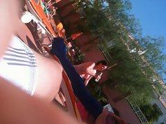 SPY UK Babe TOPLESS AT SWIMINGPOOL