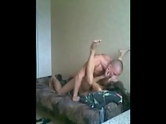 Asian kazakh babe with Slutty russian lad in his room
