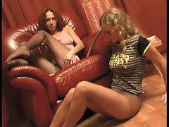 Pusia+Alisa in pantyhose