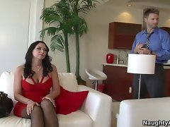 Lewd dark haired Alexis Grace does a 69 with friends huaband